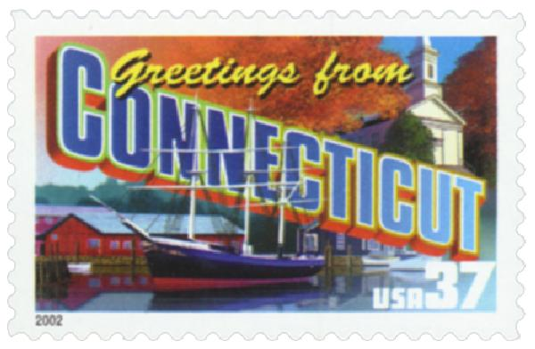2002 37c Greetings from America: Connecticut