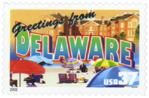 2002 37c Greetings from America: Delaware