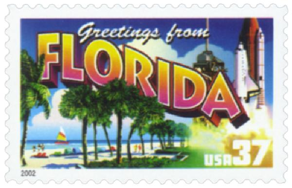 2002 37c Greetings from America: Florida