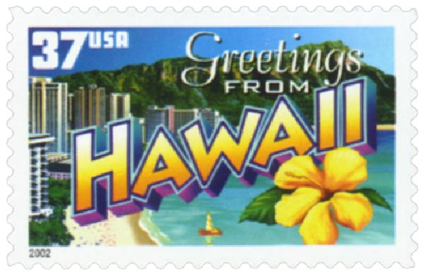 2002 37c Greetings from America: Hawaii