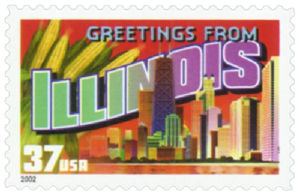 2002 37c Greetings from America: Illinois