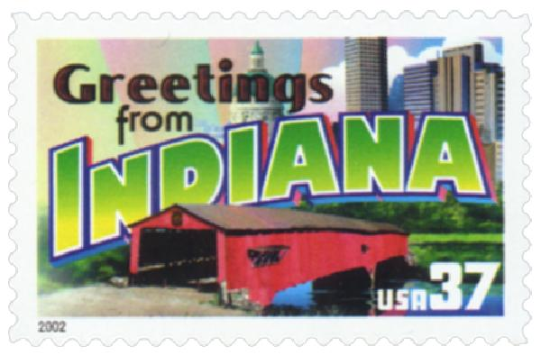 2002 37c Greetings from America: Indiana