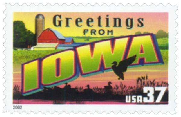 2002 37c Greetings from America: Iowa
