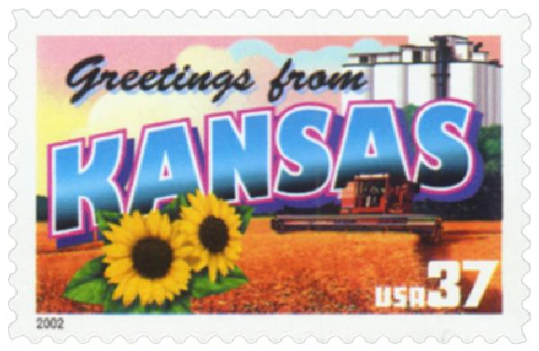 2002 37c Greetings from America: Kansas