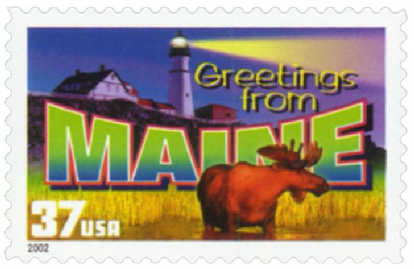 2002 37c Greetings from America: Maine