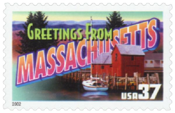 2002 37c Greetings from America: Massachusetts