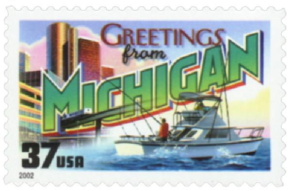 2002 37c Greetings from America: Michigan