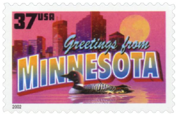 2002 37c Greetings from America: Minnesota