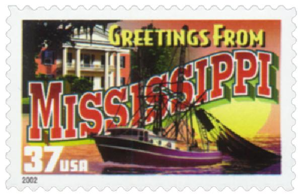 2002 37c Greetings from America: Mississippi