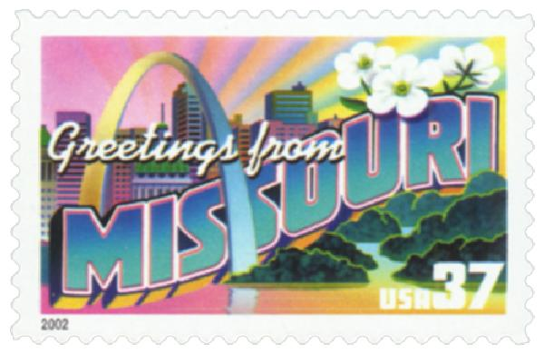 2002 37c Greetings from America: Missouri