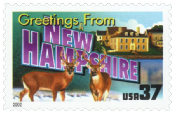 2002 37c Greetings from America: New Hampshire