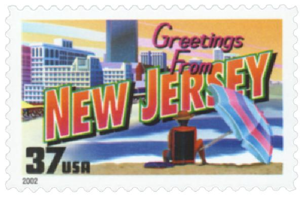 2002 37c Greetings from America: New Jersey