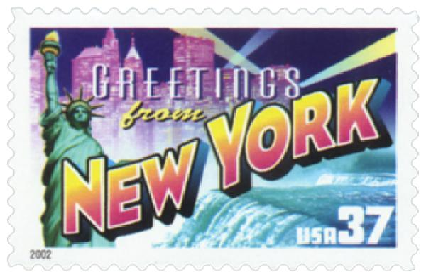 2002 37c Greetings from America: New York