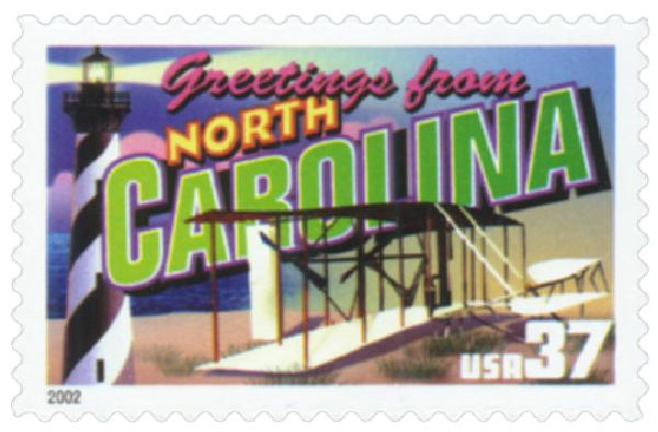 2002 37c Greetings from America: North Carolina