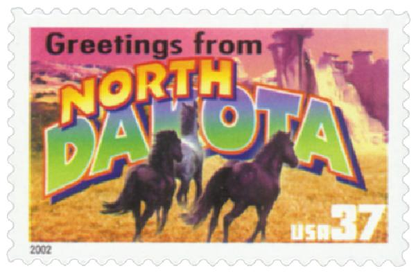 2002 37c Greetings from America: North Dakota
