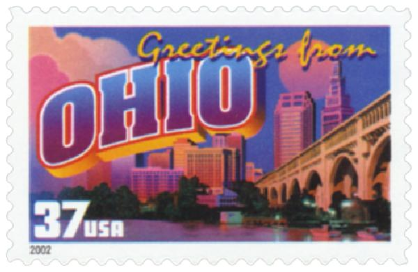 2002 37c Greetings from America: Ohio