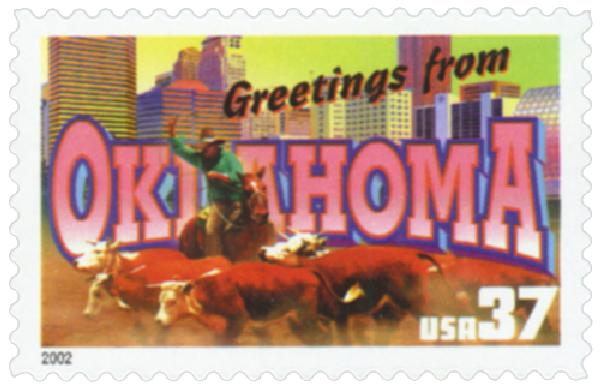 2002 37c Greetings from America: Oklahoma