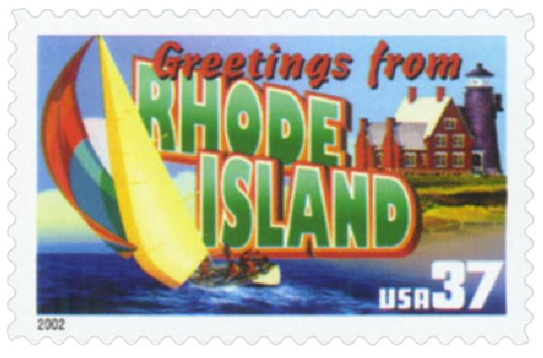 2002 37c Greetings from America: Rhode Island