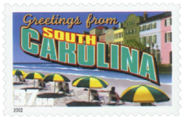 2002 37c Greetings from America: South Carolina