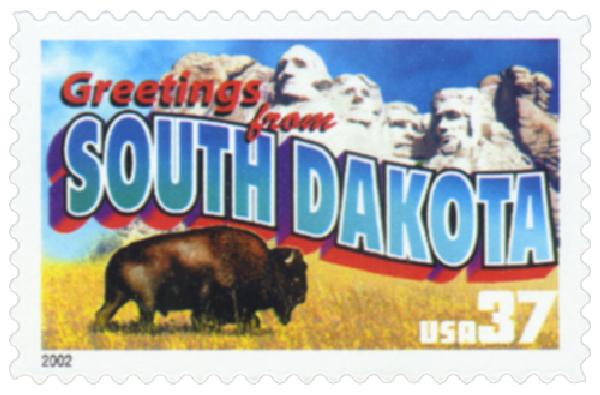 2002 37c Greetings from America: South Dakota