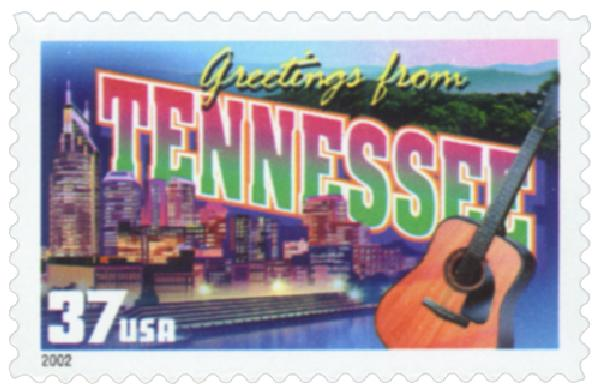 2002 37c Greetings from America: Tennessee