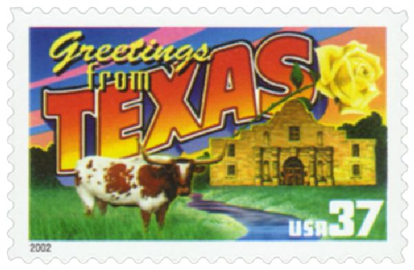 2002 37c Greetings from America: Texas