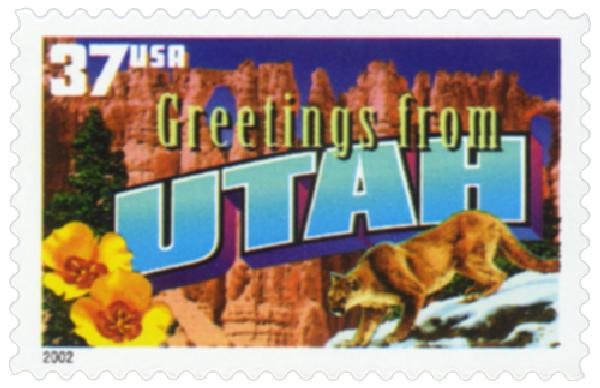 2002 37c Greetings from America: Utah
