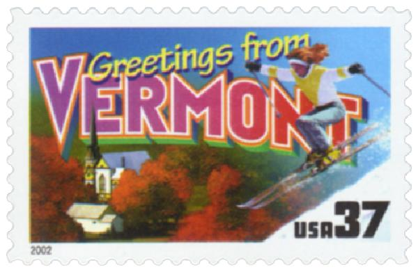 2002 37c Greetings from America: Vermont