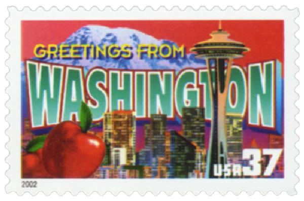2002 37c Greetings from America: Washington