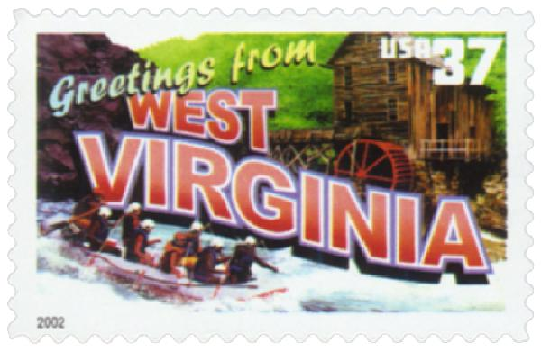 2002 37c Greetings from America: West Virginia