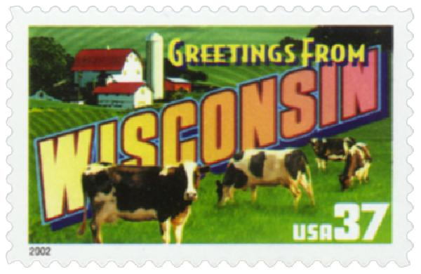 2002 37c Greetings from America: Wisconsin