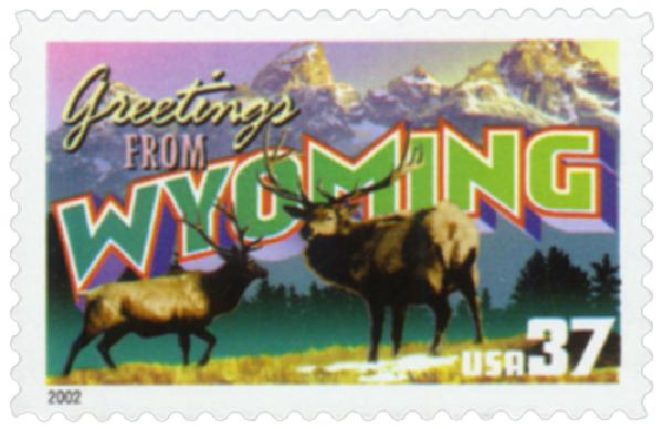 2002 37c Greetings from America: Wyoming