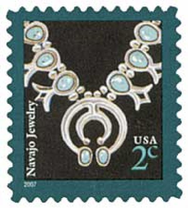 2007 2c Navajo Necklace, micro print lft