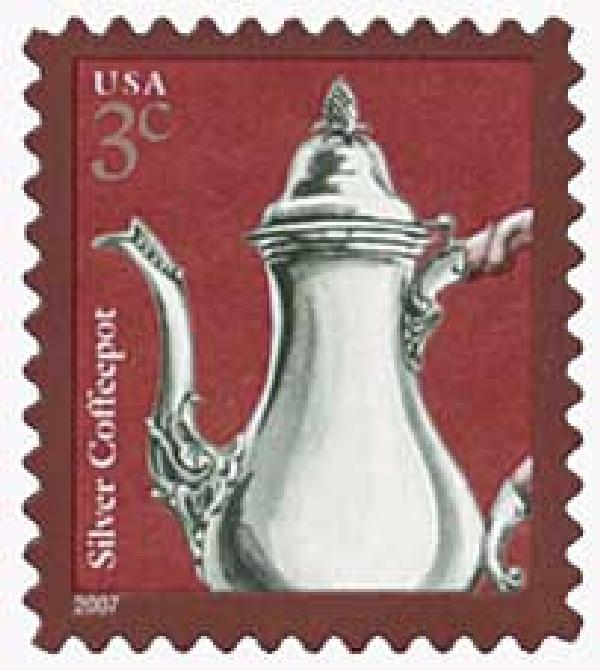 2007 3c Silver Coffeepot (3749C)