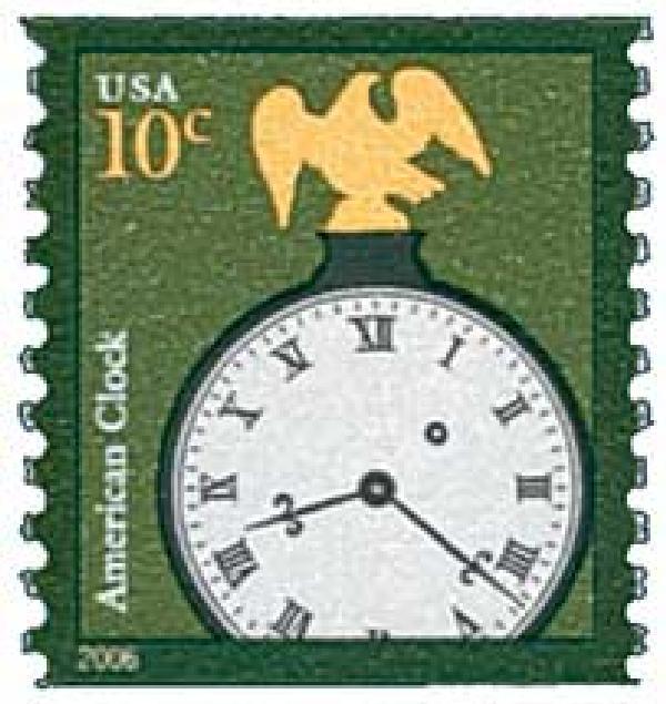 2006 10c American Clock