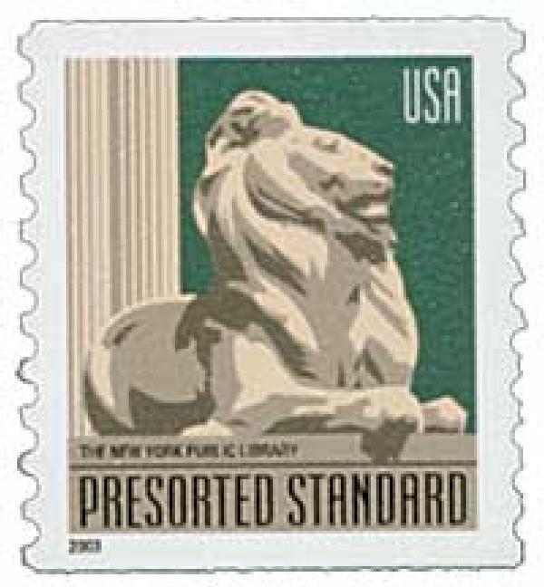 2003 10c NY Public Library Lion, non-denominational coil