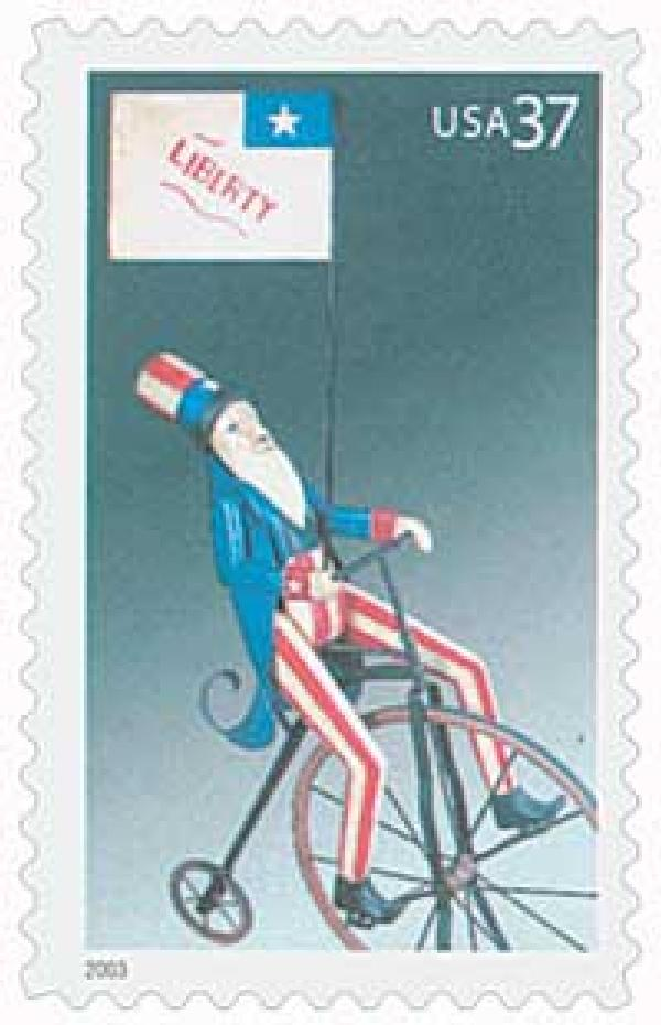 2003 37c Uncle Sam on Bicycle