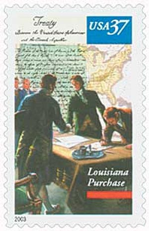 U.S. #3782 was issued for the 200th anniversary of the Louisiana Purchase.
