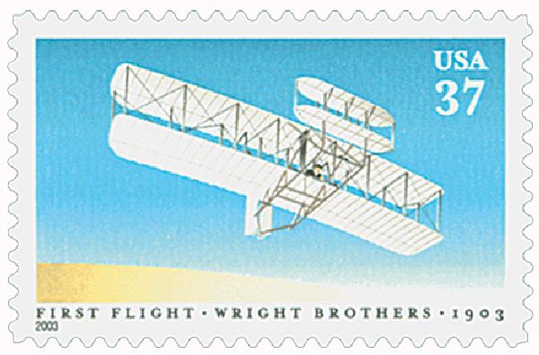 2003 37c First Flight of the Wright Brothers