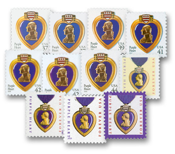 2003-19 Purple Heart, complete set of 11 stamps