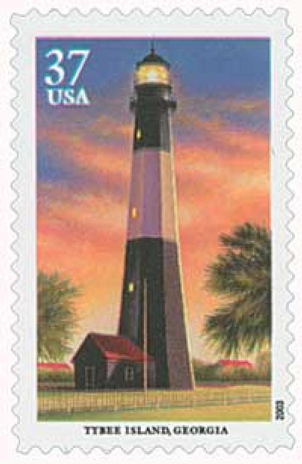 2003 37c Southeastern Lighthouses: Tybee Island, Georgia