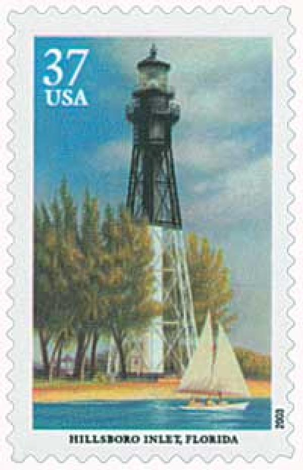 2003 37c Southeastern Lighthouses: Hillsboro Inlet, Florida