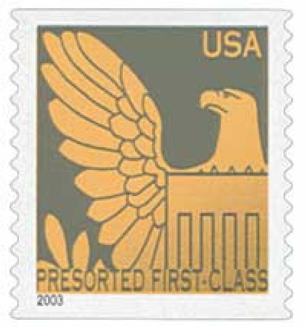 2003 25c Gray Background / Gold Eagle Non Denomination