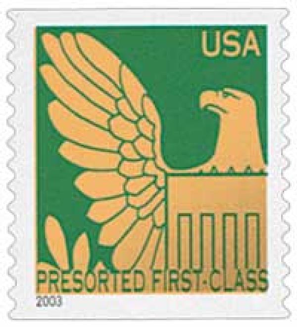2003 25c Green Background / Gold Eagle, Non Denomination