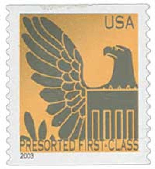 2003 25c Gold Background / Gray Eagle, Non Denomination
