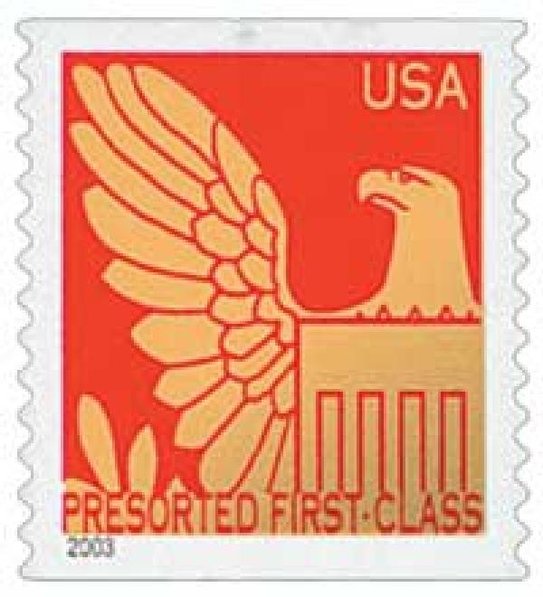 2003 25c Red Background / Gold Eagle, Non Denomination