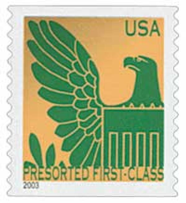 2003 25c Gold Background / Green Eagle, Non Denomination
