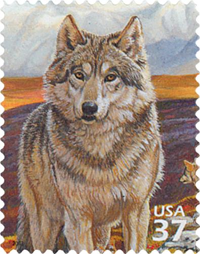 2003 37c Arctic Tundra: Gray Wolf