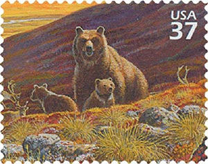 2003 37c Arctic Tundra: Grizzly Bears