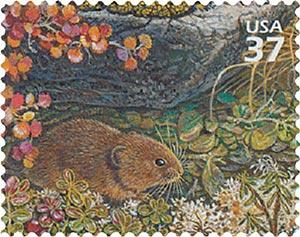 2003 37c Arctic Tundra: Singing Vole